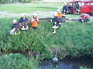 Übung: Wasserentnahme offenes Gewässer 2012