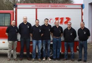 Neue Vorstandschaft v. l. n. r.: Michael Montillon, Sven Seibert, Sascha Ehrstein, Max Klein, Matthias Klenert, Michael Montillon und Rainer Keesser. Es fehlen Peter Schwandner und Dieter Hauck.